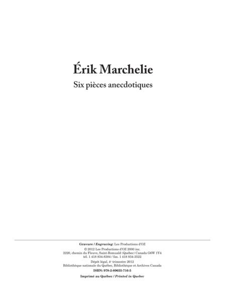 Six pieces anecdotiques