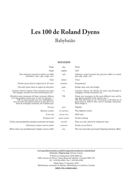 Les 100 de Roland Dyens - Babybaiao