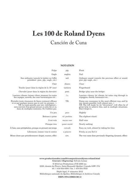 Les 100 de Roland Dyens - Cancion de Cuna