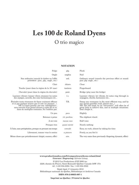 Les 100 de Roland Dyens - O trio magico