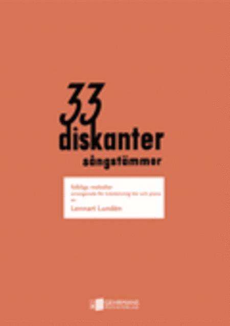 33 Diskanter - Korpartitur