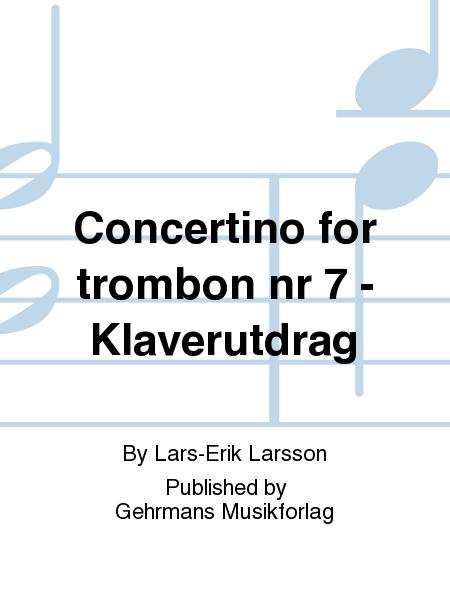 Concertino for trombon nr 7 - Klaverutdrag