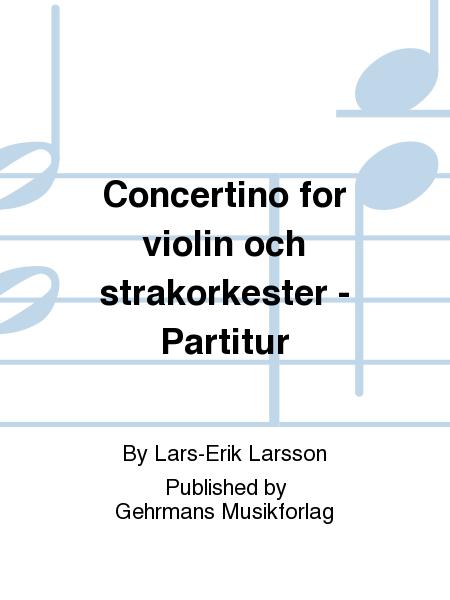 Concertino for violin och strakorkester - Partitur