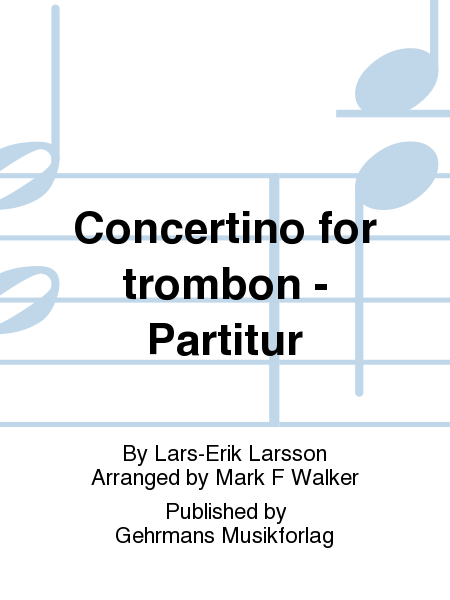 Concertino for trombon - Partitur