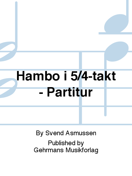 Hambo i 5/4-takt - Partitur