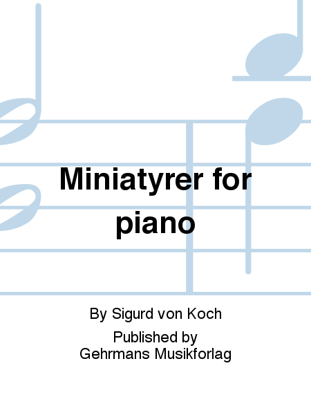 Miniatyrer for piano