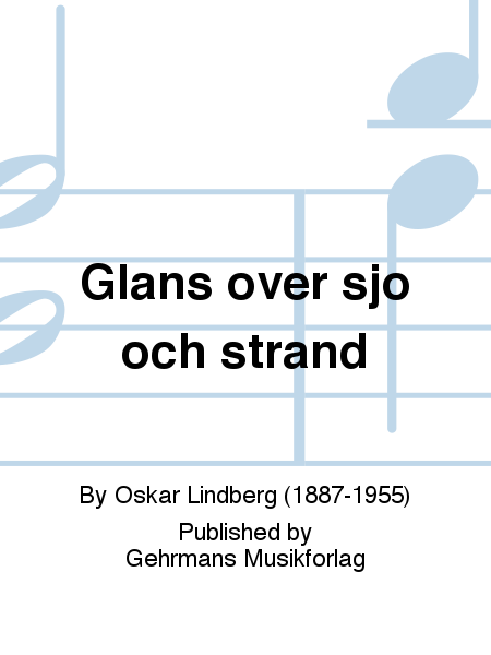 Glans over sjo och strand