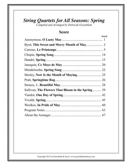 String Quartets for All Seasons: Spring - Score