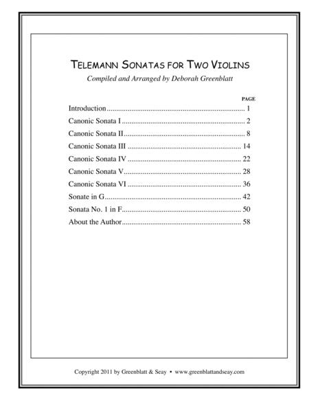 Telemann Sonatas for Two Violins