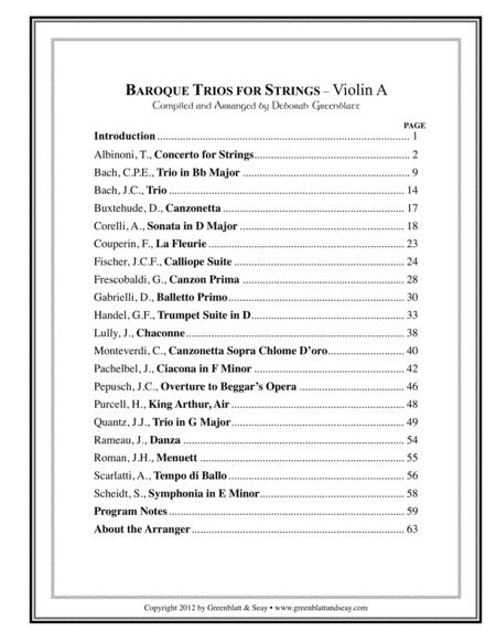 Baroque Trios for Strings - Violin Trio (3 books)