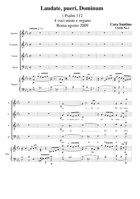 Laudate,pueri,Dominum(Psalm 112) - Choir SATB and organ