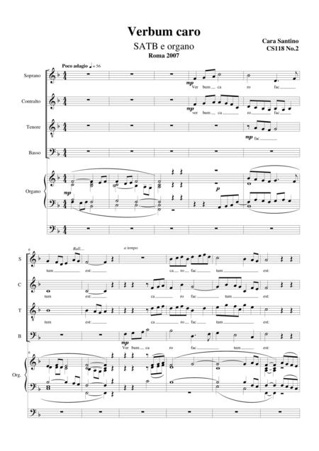 Verbum caro - Choir SATB and organ