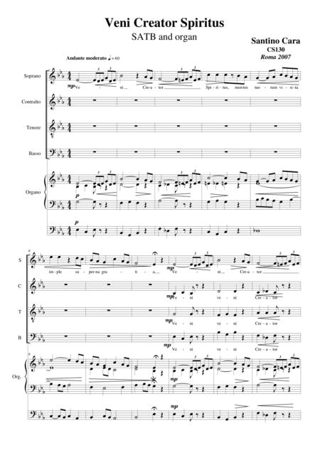 Veni Creator Spiritus - Choir SATB and organ