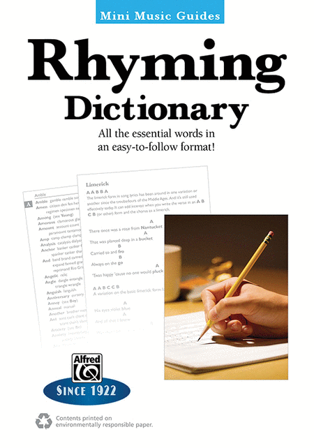 Mini Music Guides -- Rhyming Dictionary