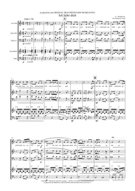 Ich liebe dich - Beethoven - Drachenfelser Musikanten - Quartet