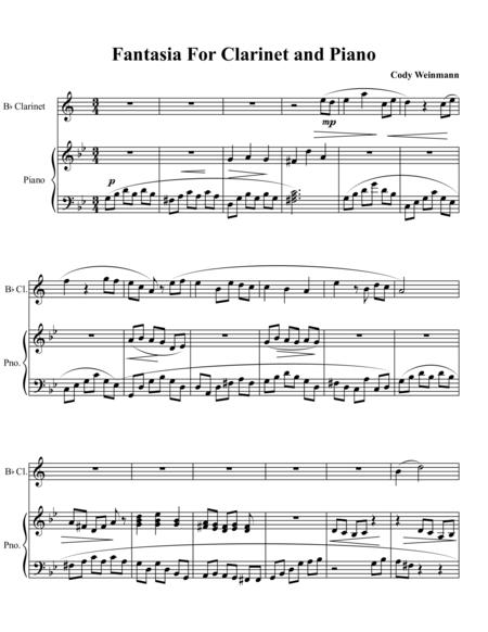 Little Fantasia for Clarinet and Piano