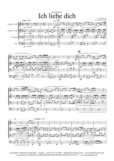Ich liebe dich - Beethoven goes Polka - Brass Quartet
