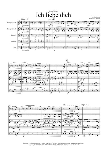 Ich liebe dich - Beethoven goes Polka - Brass Quintet