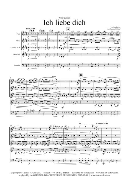 Ich liebe dich - Beethoven - Wind Quintet