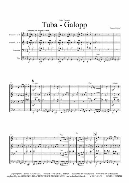 Tuba Galopp - Fast Polka - Oktober Fest - Brass Quartet