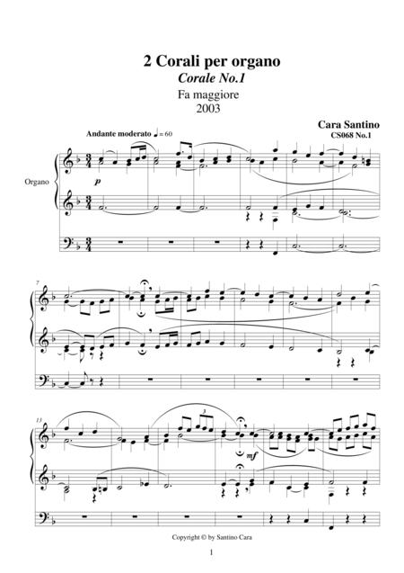 2 Chorales for organ - CS068