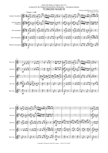 Turkish March - Beethoven - Saxophone Quartet