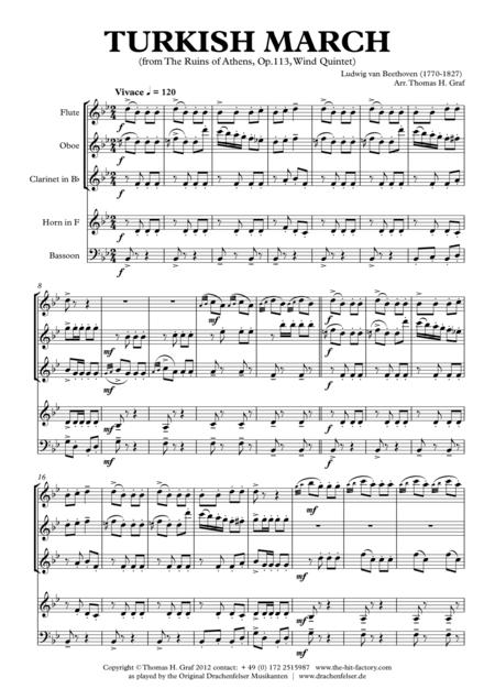 Turkish March - Beethoven - Wind Quintet