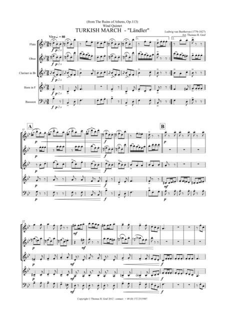 Turkish March Ländler - Beethoven - Wind Quintet