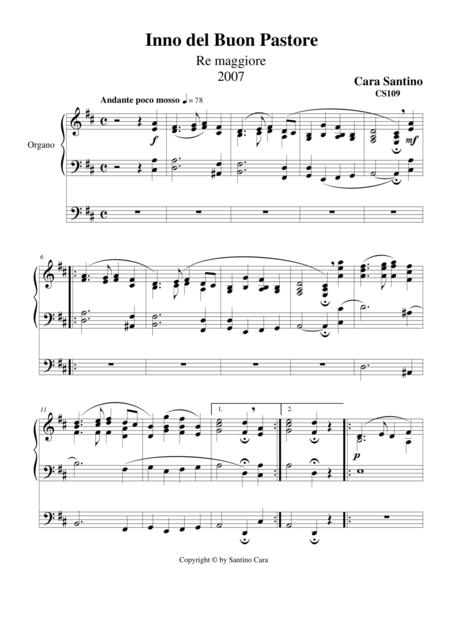 Hymn in D major for organ of the Good Shepherd
