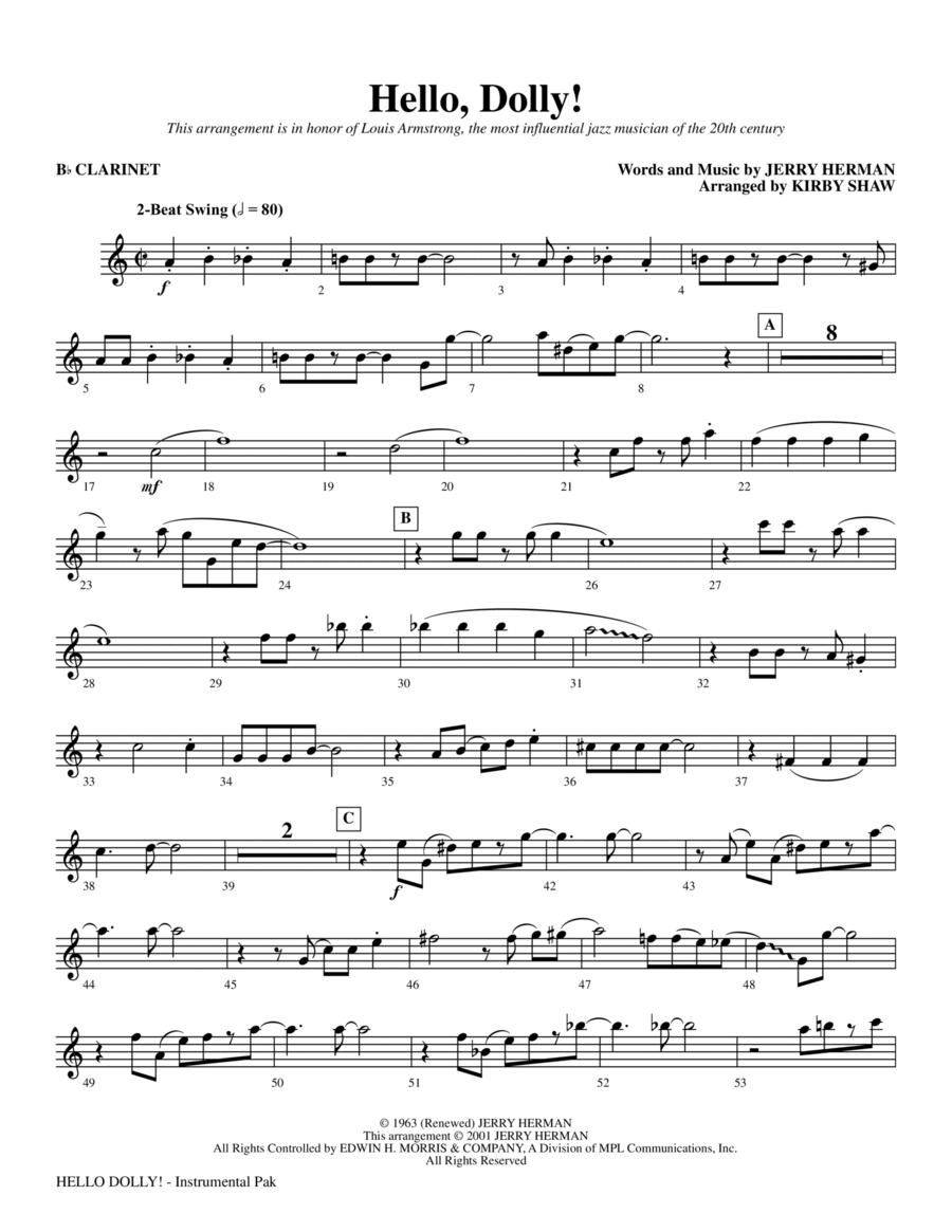 Hello, Dolly! - Bb Clarinet
