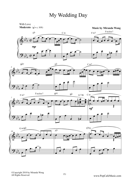My Wedding Day - Romantic Piano Music