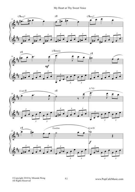 My Heart at thy Sweet Voice - Famous Piano Music No.9