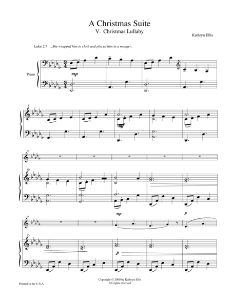 V. Christmas Lullaby