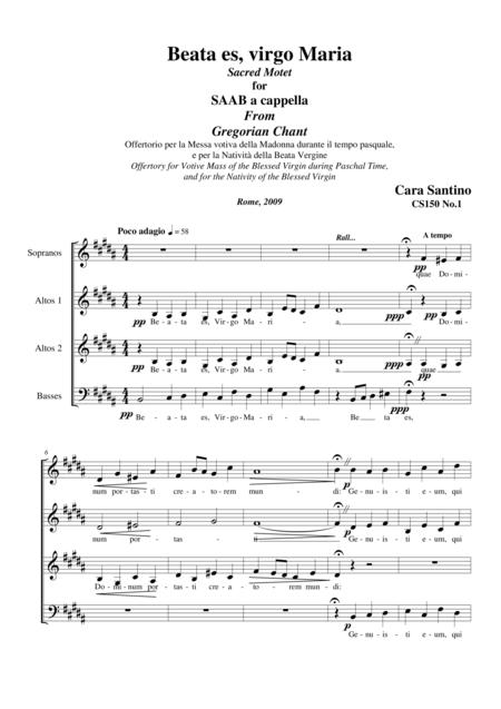 Beata es, Virgo Maria - Motet for SAAB a cappella