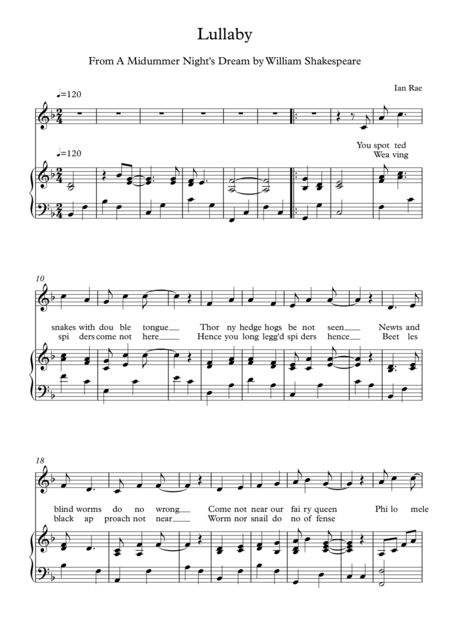 A Midsummer Night's Dream - Lullaby