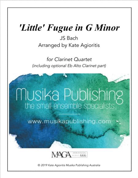 'Little' Fugue in G Minor - For Clarinet Quartet