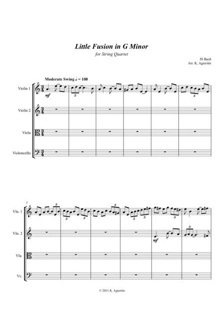 Little Fusion in G Minor - For String Quartet