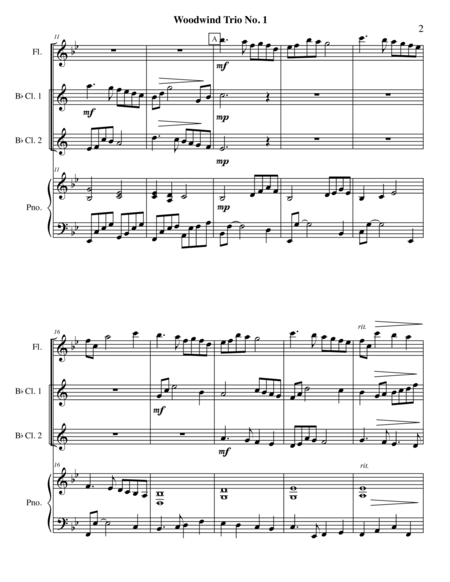 Woodwind Trio No.1