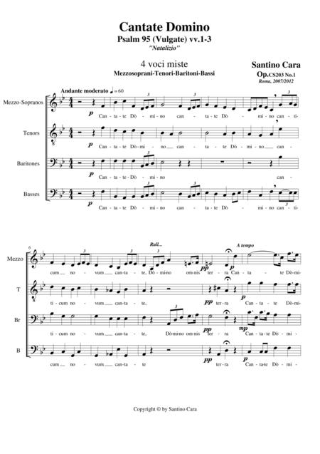 Cantate Domino (Psalm 95) Choir MzTBrB a cappella
