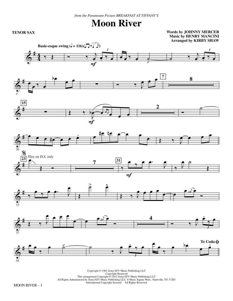 Moon River - Tenor Sax