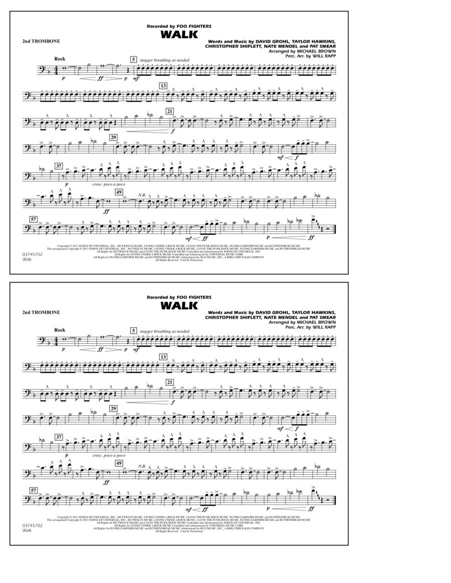 Walk - 2nd Trombone