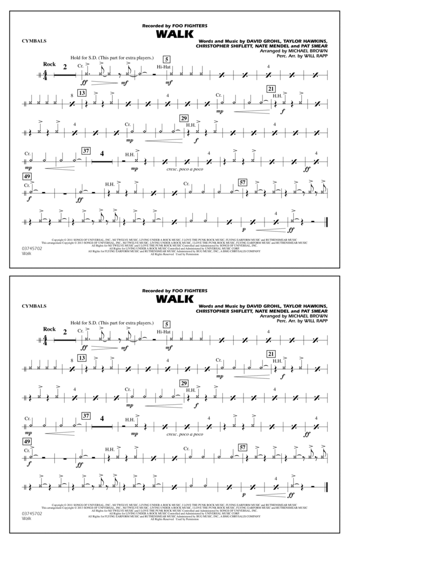 Walk - Cymbals