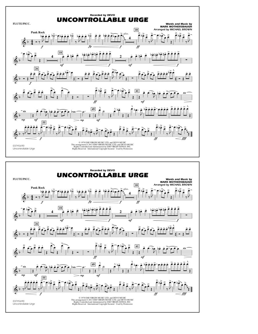Uncontrollable Urge - Flute/Piccolo