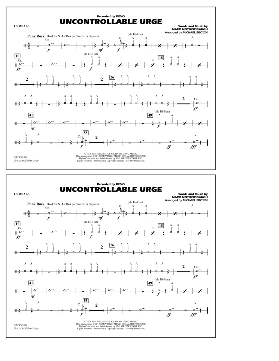 Uncontrollable Urge - Cymbals