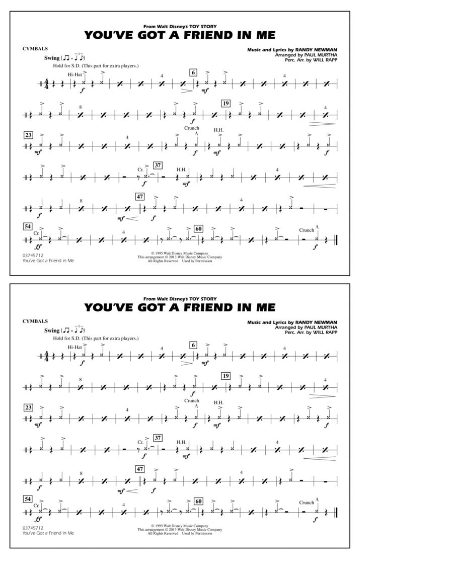 You've Got a Friend in Me - Cymbals