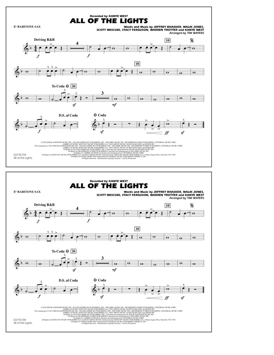 All Of The Lights - Eb Baritone Sax