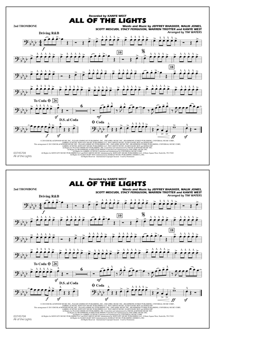 All Of The Lights - 2nd Trombone