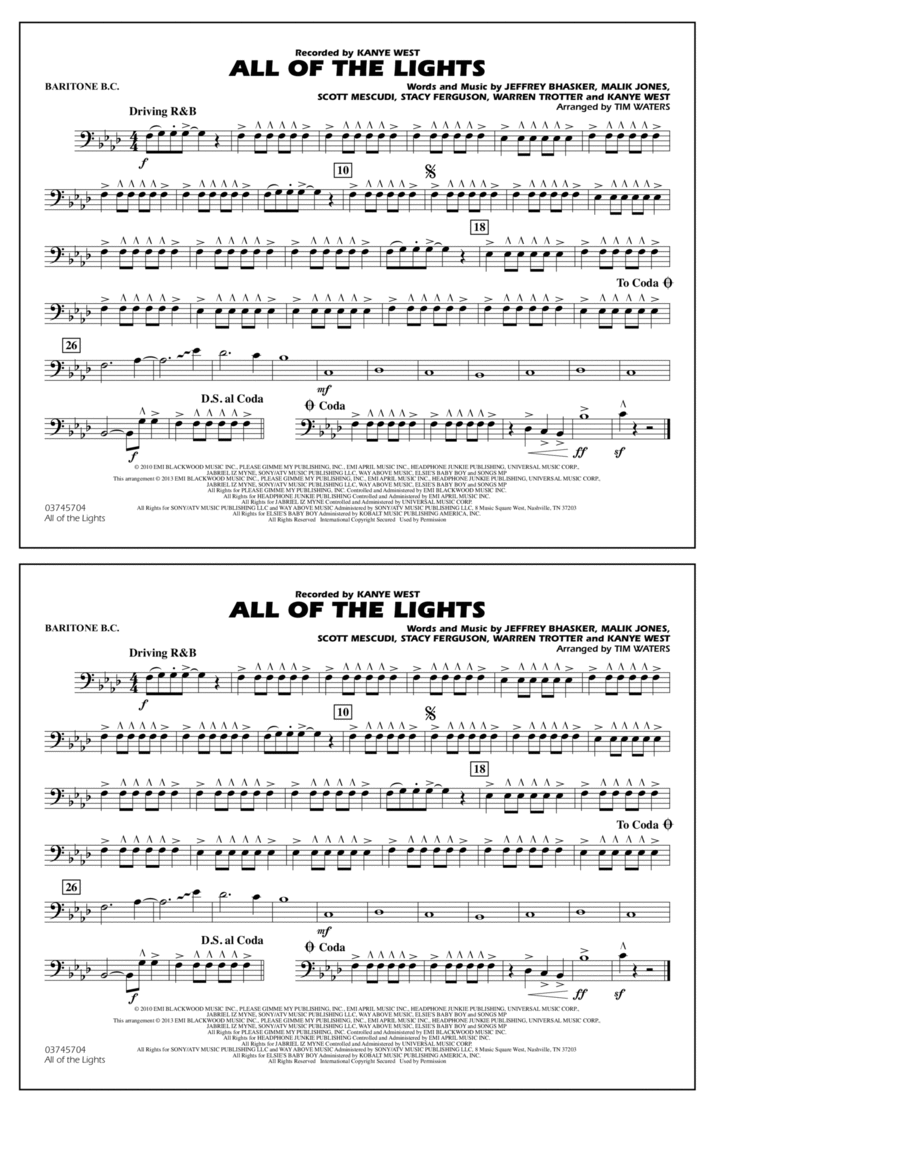 All Of The Lights - Baritone B.C.