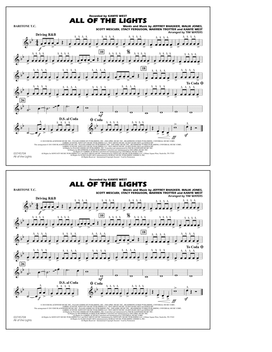 All Of The Lights - Baritone T.C.