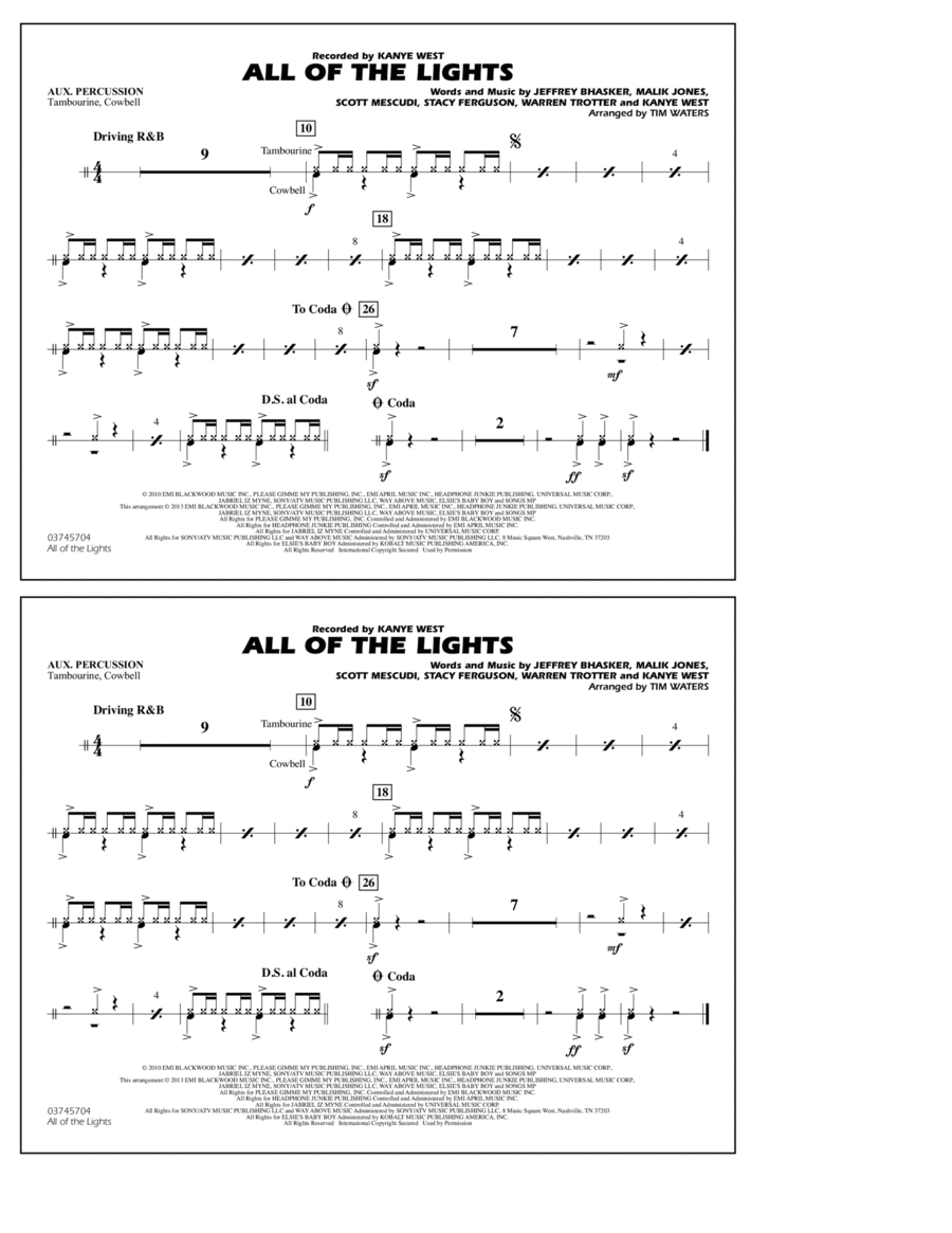 All Of The Lights - Aux Percussion
